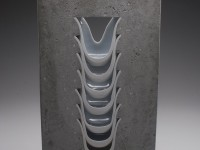 "Thomas Lowell Edwards, ""Ridge"" 2012, concrete, porcelain, 26 x 13 x 3""."
