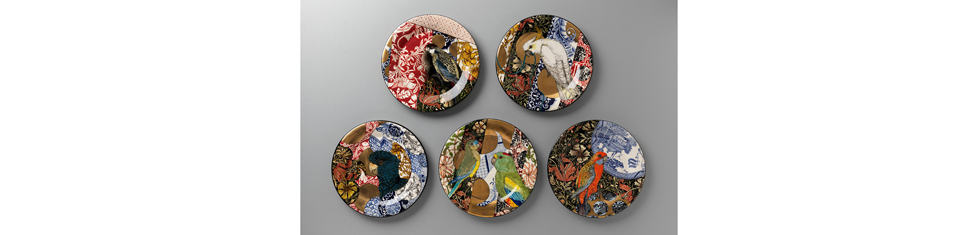 S Bowers William-Morris-(camouflage-plates)-dinner-set 978pxwhite