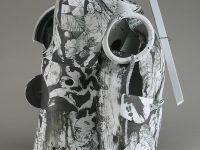 """Edward Eberle, """"White Canyon (0821)"""" 2008, porcelain, wire, 21 x 13 x 13"""""""""""