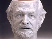 "Robert Arneson, ""Advanced Stage of Ceramophilia"" 1991, glazed ceramic, 16 x 11 x 11""."