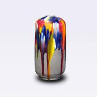 """Robert Silverman, """"Vase (5)"""", 2021, glazed porcelain, 13 x 6 x 6"""""""
