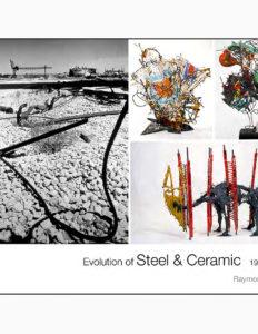 "Raymon Elozua, ""Steel & Ceramic"" catalog cover."