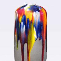 "Robert Silverman, ""Vase (5)"", detail, 2021, glazed porcelain, 13 x 6 x 6"""