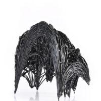 "Stine Bidstrup, ""Bifurcation Series (Black)"", 2021, glass, 11 x 13.75 x 5"""